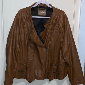 Mblm vegan leather motorcycle jacket